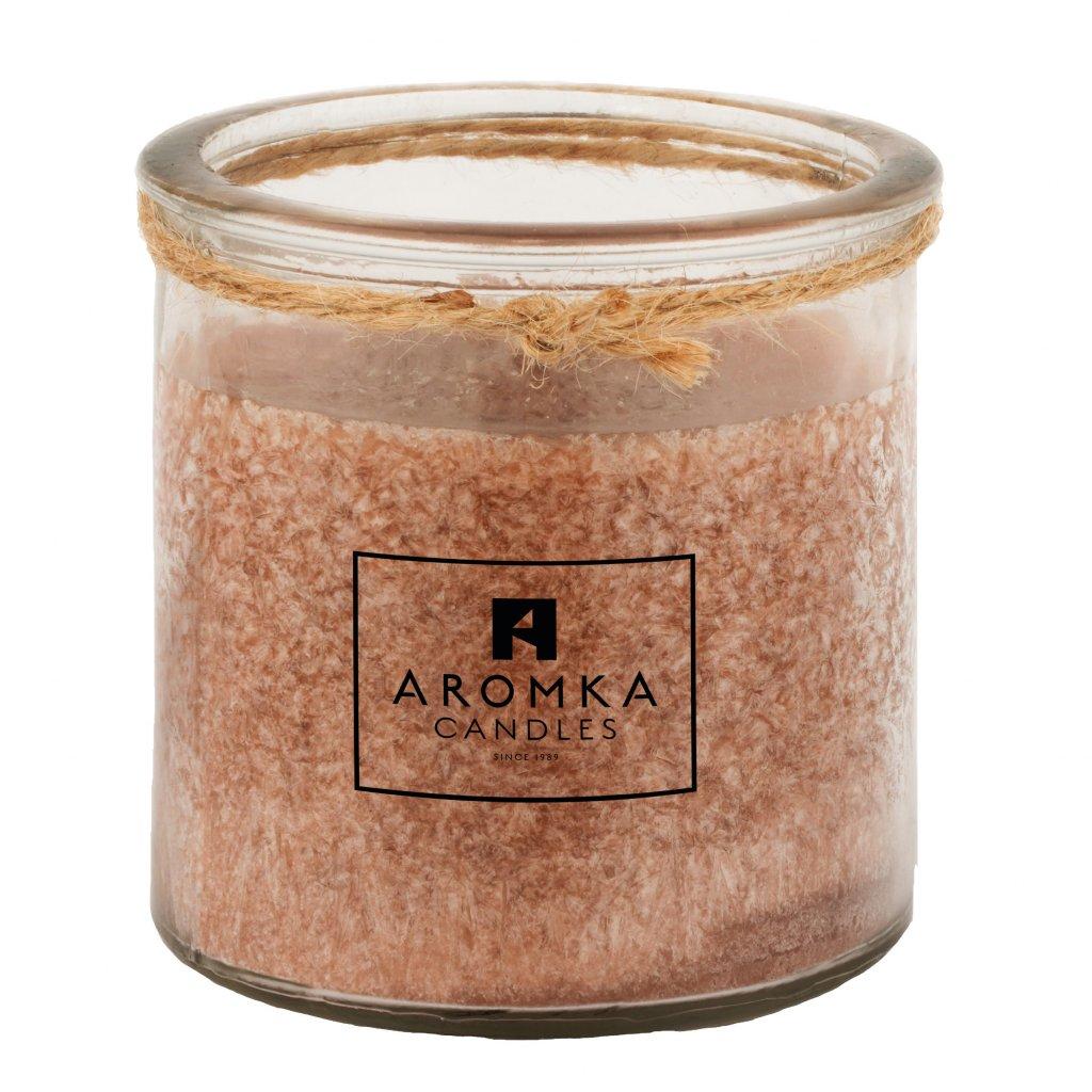 Přírodní vonná svíčka palmová - AROMKA - Recyklované sklo, 250 ml - Gentleman