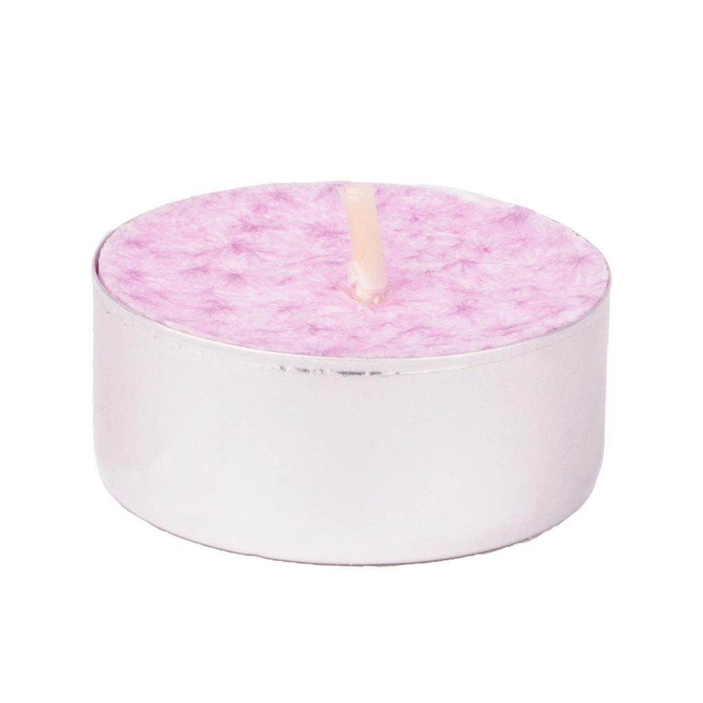 Přírodní vonná svíčka palmová - AROMKA - Set 10 ks čajových svíček v plechu - Dámský Parfém
