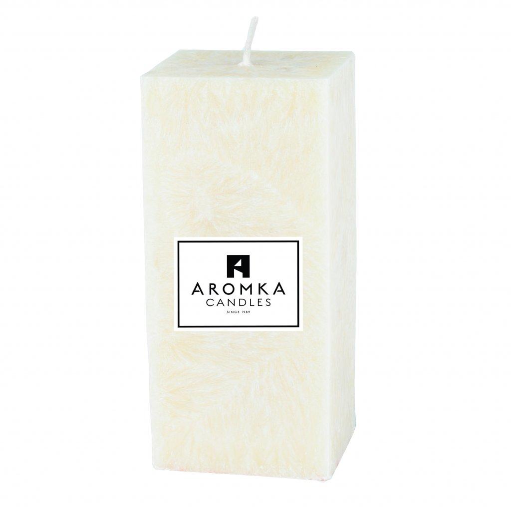 Přírodní vonná svíčka palmová - AROMKA - Hranol, průměr 6,2, výška 13 cm - Květ Bavlny