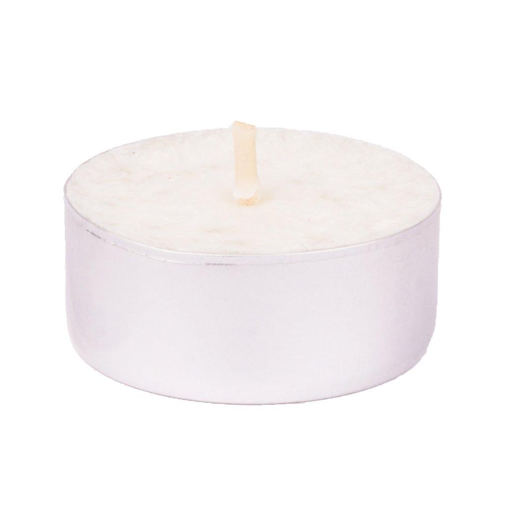 Přírodní vonná svíčka palmová - AROMKA - Set 10 ks čajových svíček v plechu - Květ Bavlny