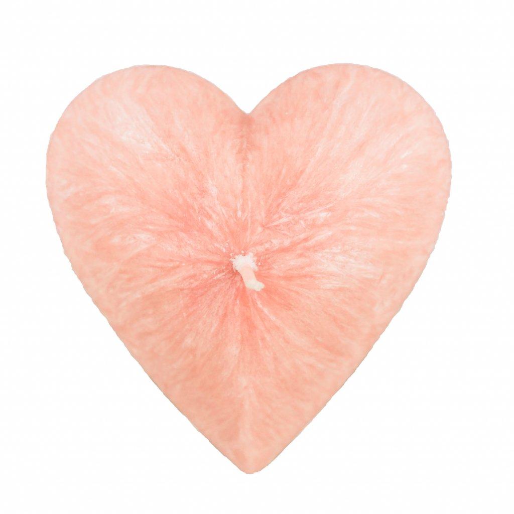 Přírodní vonná svíčka palmová -AROMKA - Valentýnské Srdce Hladké - Růže