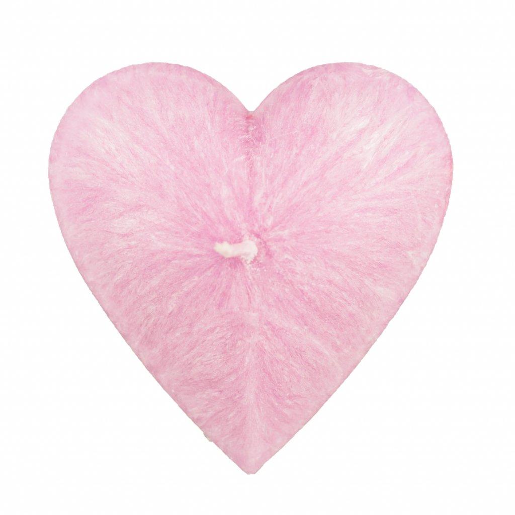 Přírodní vonná svíčka palmová - AROMKA - Valentýnské Srdce Hladké - Růže