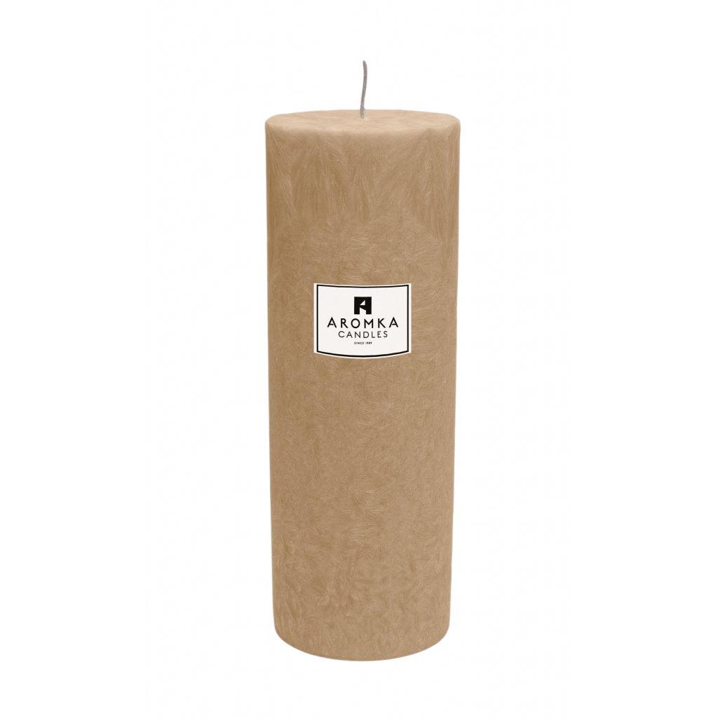 Přírodní vonná svíčka palmová - AROMKA - Válec, průměr 6,4 cm, výška 17,5 cm - Litsea Cubeba