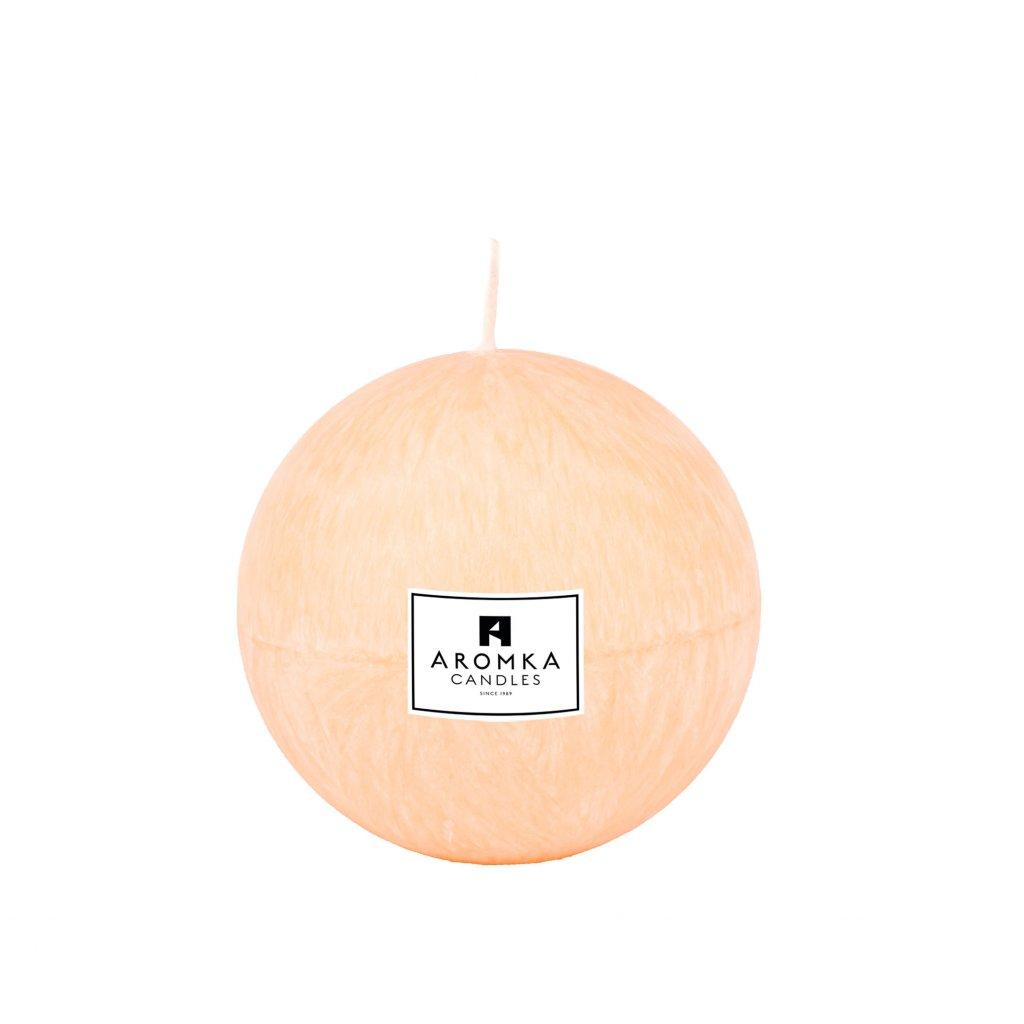 Přírodní vonná svíčka palmová - AROMKA - Koule, 7 cm - Litsea Cubeba