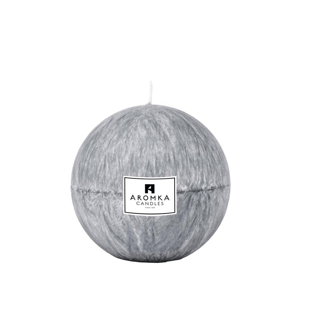 Přírodní vonná svíčka palmová - AROMKA - Koule, 7 cm - Ambra