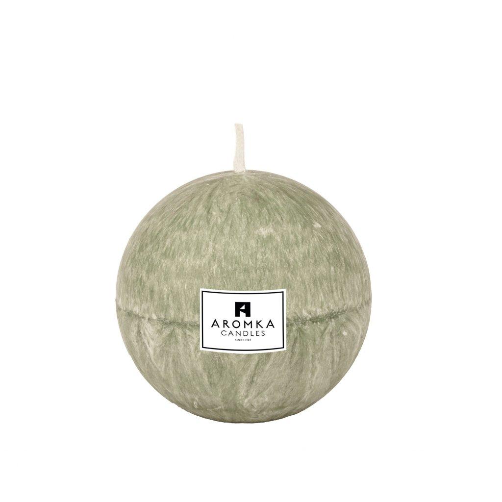 Přírodní vonná svíčka palmová - AROMKA - Koule, 7 cm - Kopřiva
