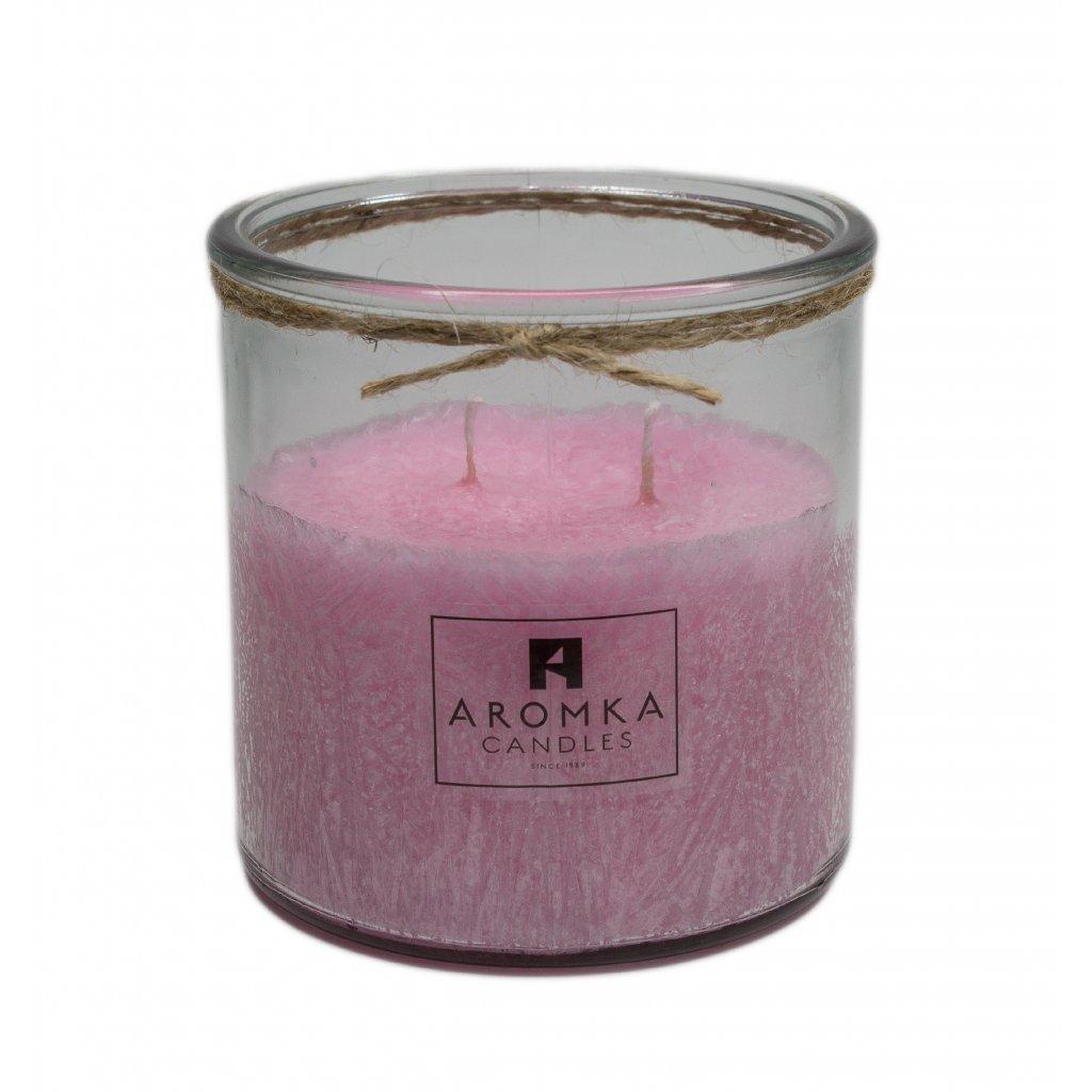 Přírodní vonná svíčka palmová - AROMKA - Recyklované sklo, 500 ml - Verbena