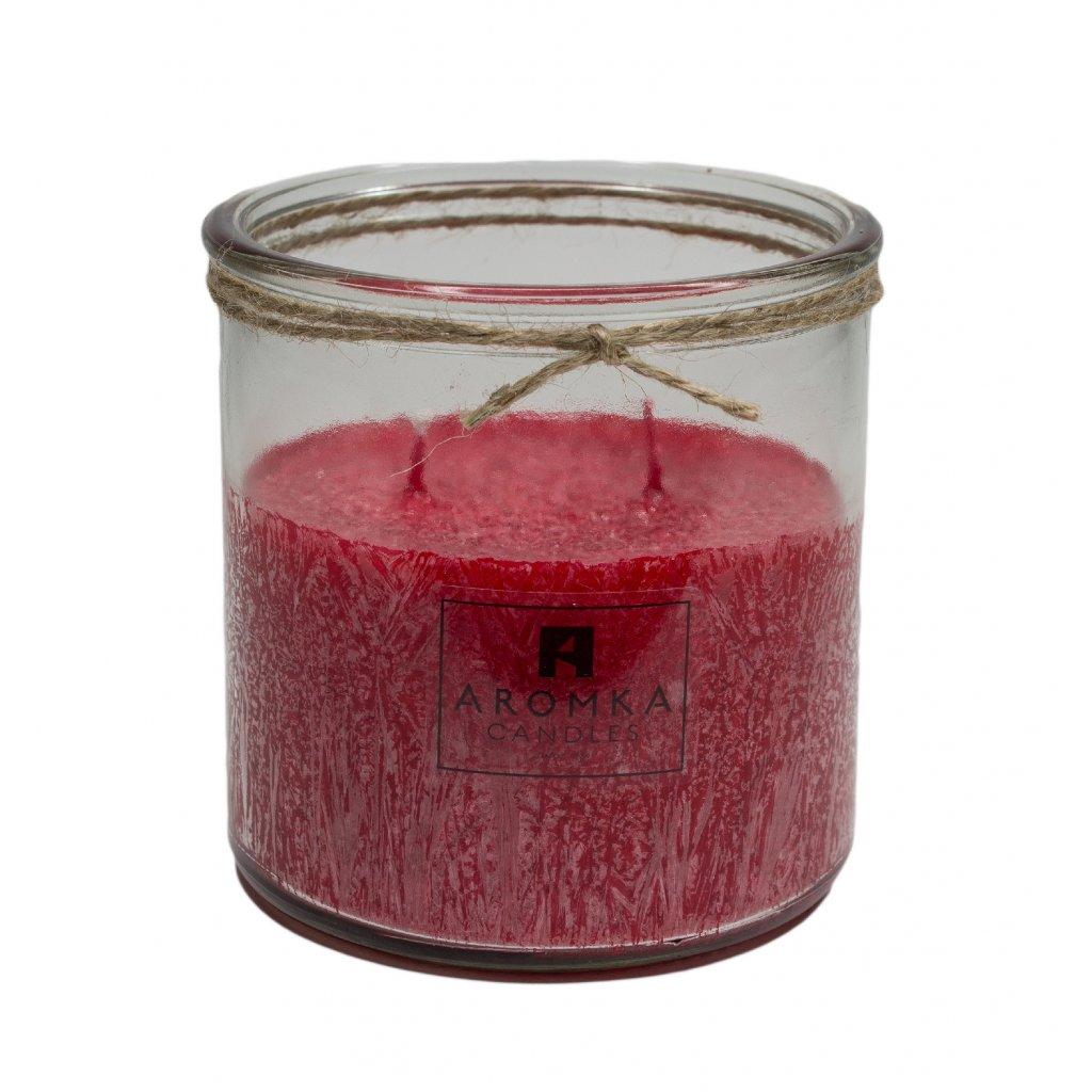Přírodní vonná svíčka palmová - AROMKA - Recyklované sklo, 500 ml - Zdivočelý Grep