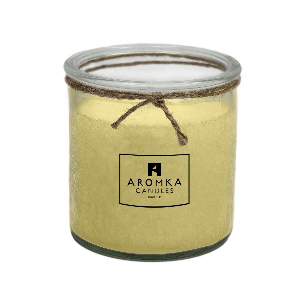 Přírodní vonná svíčka palmová - AROMKA - Recyklované sklo, 250 ml - Měsíček lékařský