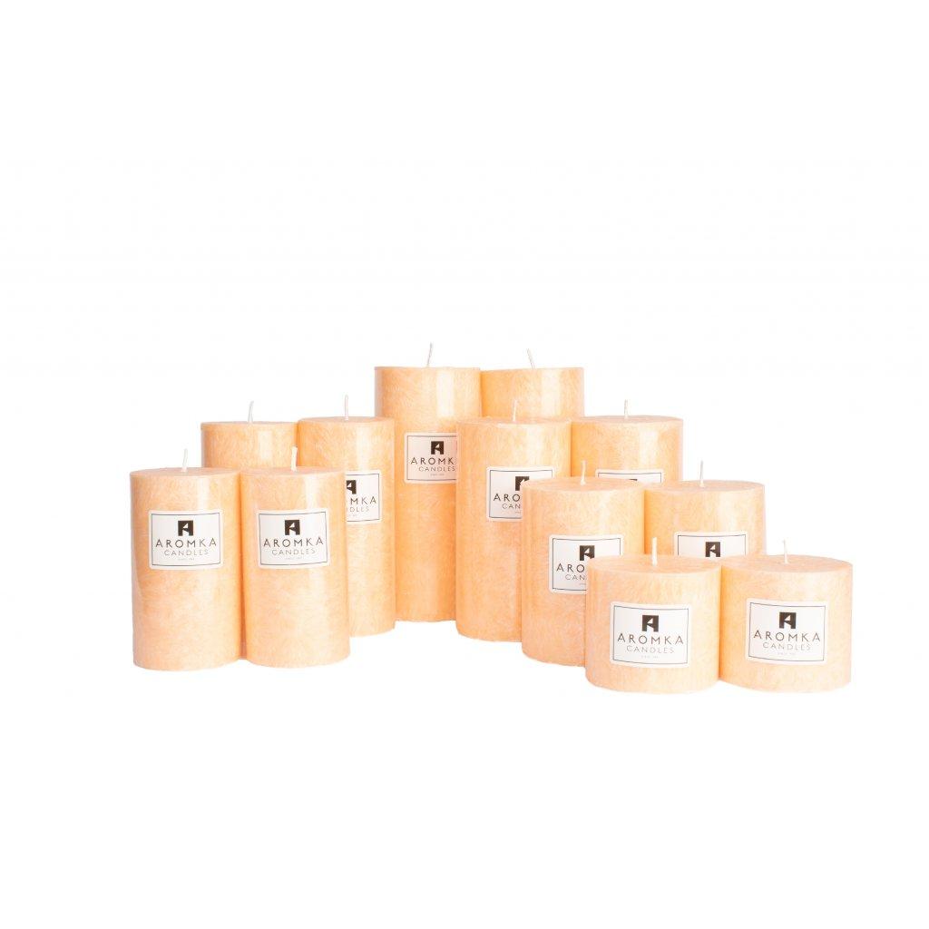 Přírodní vonná svíčka palmová - AROMKA - Sada 12 válců v průmyslovém balení - Lady