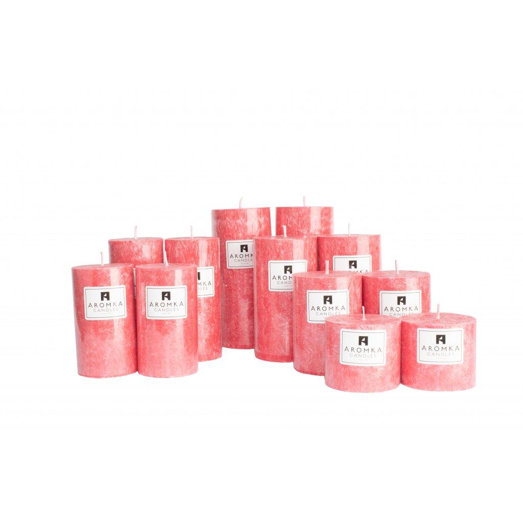 Přírodní vonná svíčka palmová - AROMKA - Sada 12 válců v průmyslovém balení - Zdivočelý Grep
