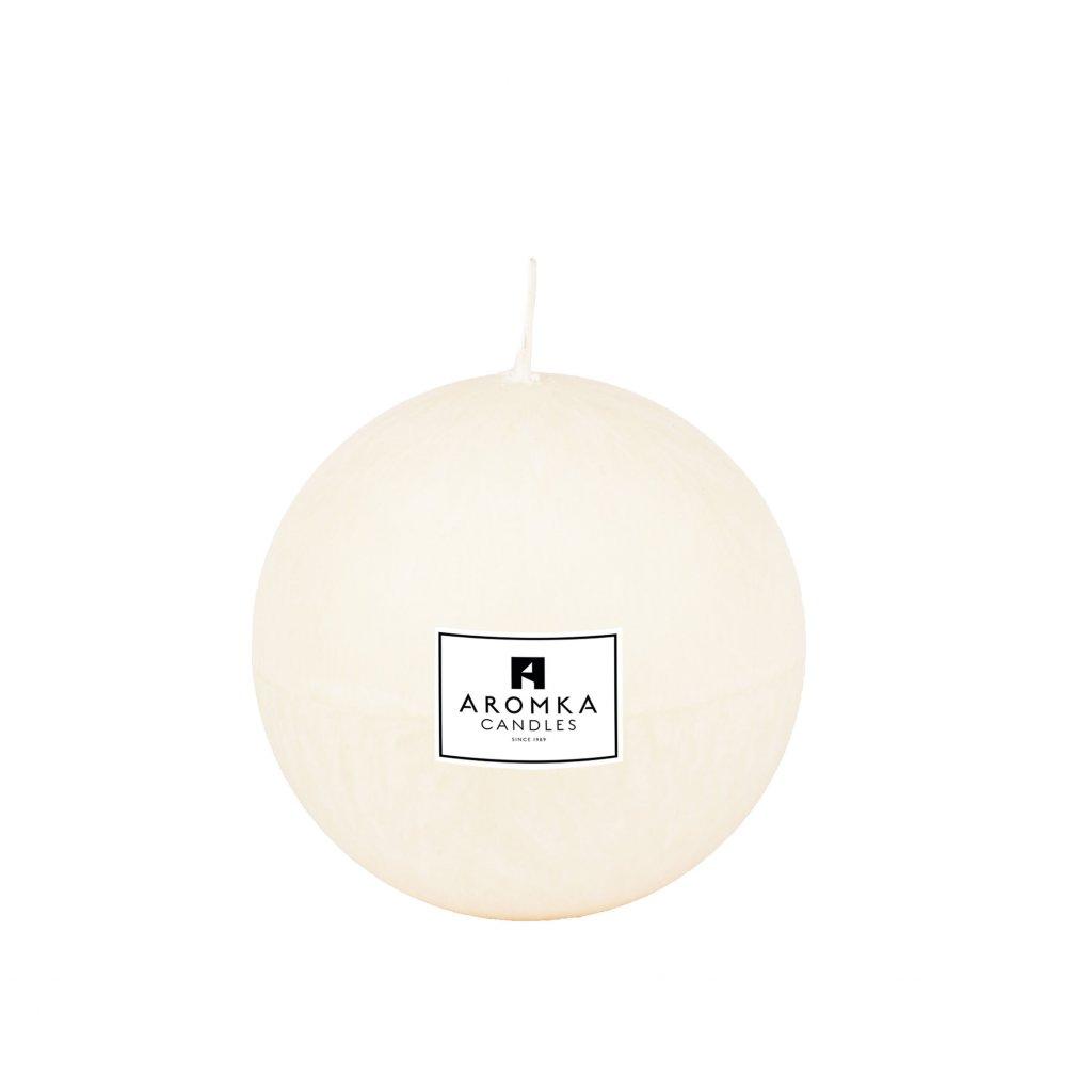 Přírodní vonná svíčka palmová - AROMKA - Koule, 7 cm - BEZ VŮNĚ