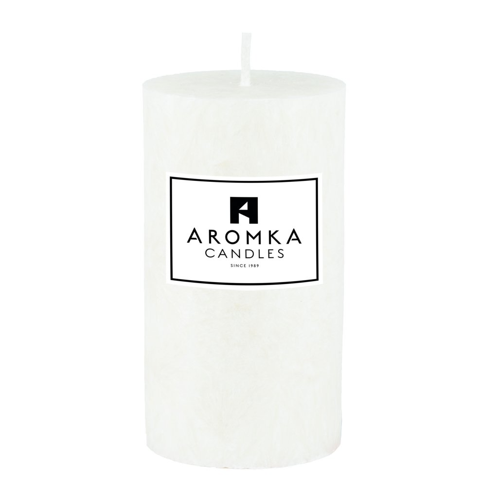 Přírodní vonná svíčka palmová - AROMKA - Válec, průměr 5,4 cm, výška 10 cm - BEZ VŮNĚ