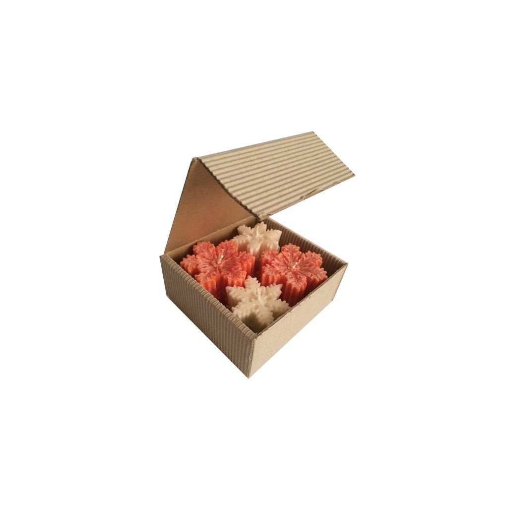 Vánoční balení - AROMKA - Sada 8 vloček v dárkovém balení - Skořice