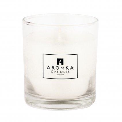 Přírodní vonná svíčka palmová - AROMKA - Whiskovka, 200 ml - Květ Bavlny