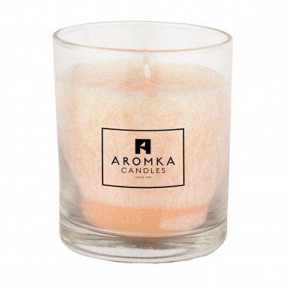 Přírodní vonná svíčka palmová - AROMKA - Whiskovka, 250 ml - Zázvor