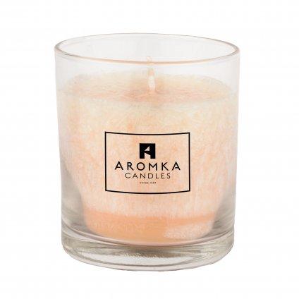 Přírodní vonná svíčka palmová - AROMKA - Whiskovka, 200 ml - Zázvor