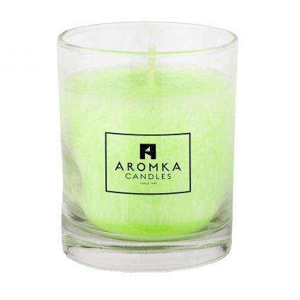 Přírodní vonná svíčka palmová - AROMKA - Whiskovka, 250 ml - Mango a Papaya