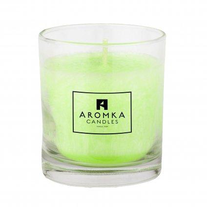 Přírodní vonná svíčka palmová - AROMKA - Whiskovka, 200 ml - Mango a Papaya