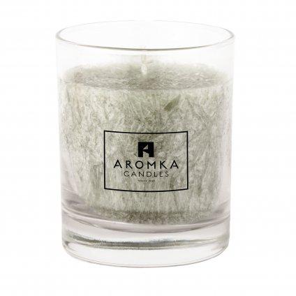 Přírodní vonná svíčka palmová - AROMKA - Whiskovka, 250 ml - Kopřiva