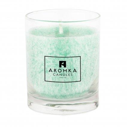 Přírodní vonná svíčka palmová - AROMKA - Whiskovka, 250 ml - Meduňka