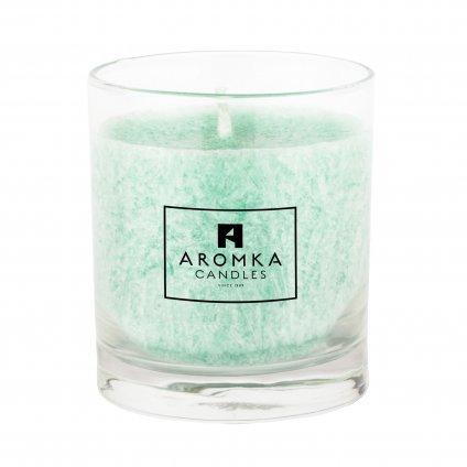 Přírodní vonná svíčka palmová - AROMKA - Whiskovka, 200 ml - Meduňka