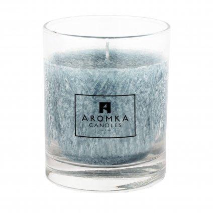 Přírodní vonná svíčka palmová - AROMKA - Whiskovka, 250 ml - Ambra