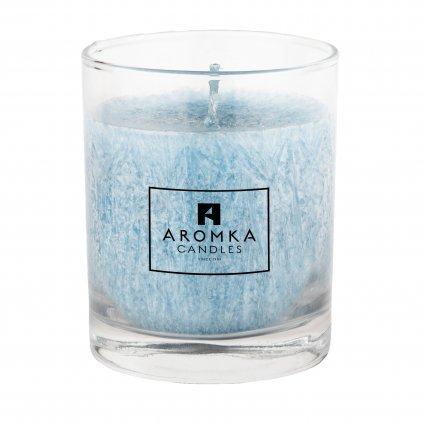 Přírodní vonná svíčka palmová - AROMKA - Whiskovka, 250 ml - Bílý Čaj