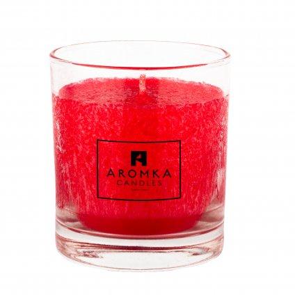 Přírodní vonná svíčka palmová - AROMKA - Whiskovka, 200 ml - Vánoční Punč