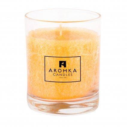 Přírodní vonná svíčka palmová - AROMKA - Whiskovka, 250 ml - Meloun s Okurkou