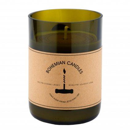 Přírodní vonná svíčka sójová - AROMKA - Láhev od vína, 290 ml - Cabernet