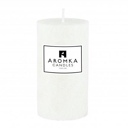 Přírodní vonná svíčka palmová - AROMKA - Válec, průměr 5,4 cm, výška 10 cm - Květ Bavlny