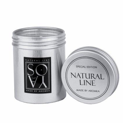 Přírodní vonná svíčka sójová - AROMKA - Plechovka s víkem, 100 ml - Květ Bavlny