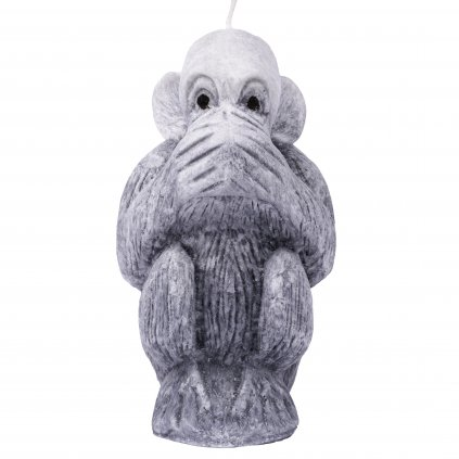 Přírodní vonná svíčka palmová - AROMKA - Opice nemluvím, průměr 11 cm, výška 6 cm - Pánský Parfém