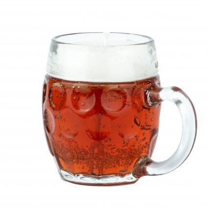 Přírodní vonná svíčka gelová - AROMKA - Buclaté pivo