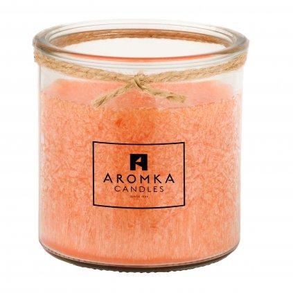 Přírodní vonná svíčka palmová - AROMKA - Recyklované sklo, 140 ml - Lafy