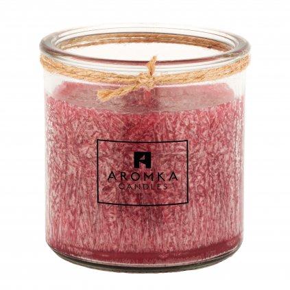 Přírodní vonná svíčka palmová - AROMKA - Recyklované sklo, 140 ml - Ostružina