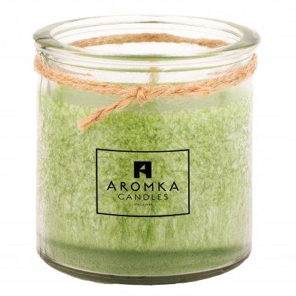 Přírodní vonná svíčka palmová - AROMKA - Recyklované sklo, 250 ml - Květ Lípy