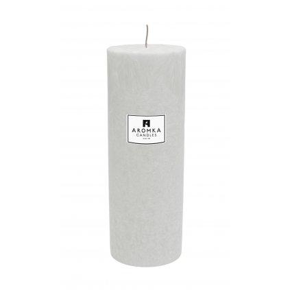 Přírodní vonná svíčka palmová - AROMKA - Válec, průměr 6,4 cm, výška 17,5 cm - Květ Bavlny
