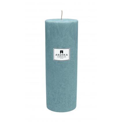 Přírodní vonná svíčka palmová - AROMKA - Válec, průměr 6,4 cm, výška 17,5 cm - Černý Hrozen