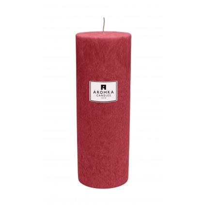 Přírodní vonná svíčka palmová - AROMKA - Válec, průměr 6,4 cm, výška 17,5 cm - Vánoční Punč