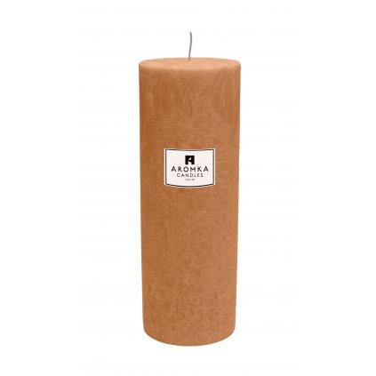 Přírodní vonná svíčka palmová - AROMKA - Válec, průměr 6,4 cm, výška 17,5 cm - Lady