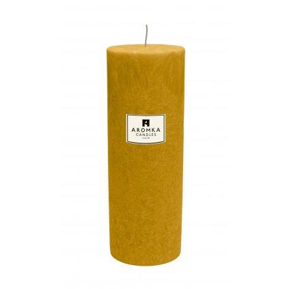 Přírodní vonná svíčka palmová - AROMKA - Válec, průměr 6,4 cm, výška 17,5 cm - Meloun s Okurkou