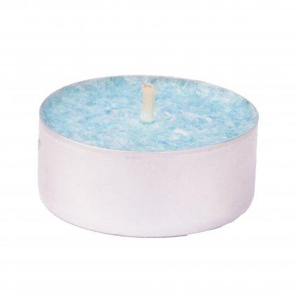 Přírodní vonná svíčka palmová - AROMKA - Set 10 ks čajových svíček v plechu - Bílý Čaj