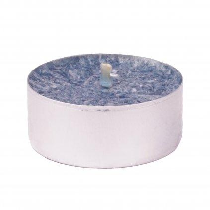 Přírodní vonná svíčka palmová - AROMKA - Set 10 ks čajových svíček v plechu - Ambra