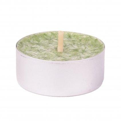 Přírodní vonná svíčka palmová - AROMKA - Set 10 ks čajových svíček v plechu - Kopřiva