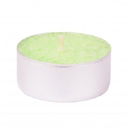 Přírodní vonná svíčka palmová - AROMKA - Set 10 ks čajových svíček v plechu - Mango a Papaya