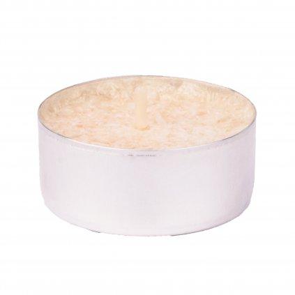Přírodní vonná svíčka palmová - AROMKA - Set 10 ks čajových svíček v plechu - Zázvor