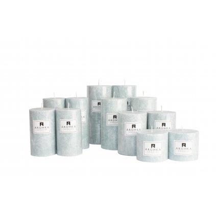Přírodní vonná svíčka palmová - AROMKA - Sada 12 válců v průmyslovém balení - Ambra