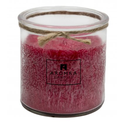 Přírodní vonná svíčka palmová - AROMKA - Recyklované sklo, 250 ml - Zdivočelý Grep
